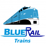 BlueRail Trains Logo
